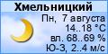 Погода в Хмельницком