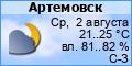Погода в Артёмовске Луганской области