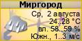 Погода по г. Миргород, температура, климат