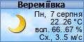 Погода у Вереміївці