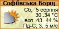 Погода в Софіївській Борщагівці